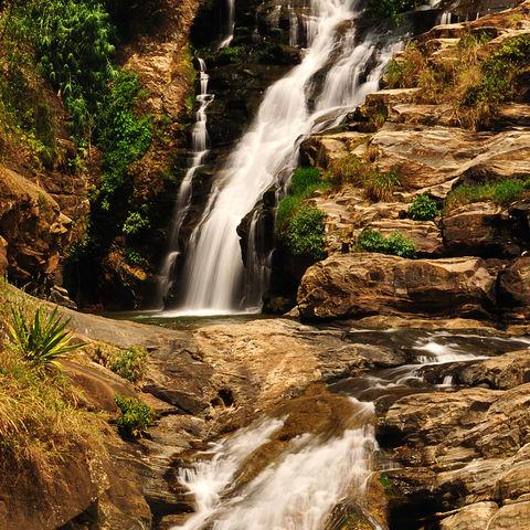 Ravana Falls in Ella, Sri Lanka
