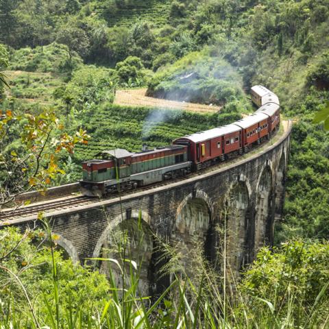 Mit dem Zug durchs Hochland nach Ella, Sri Lanka