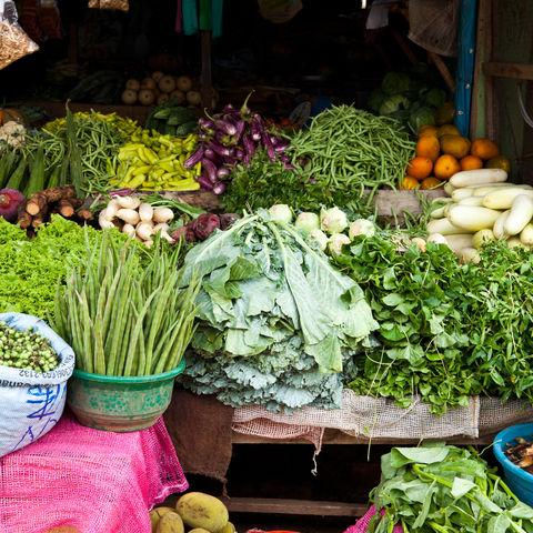 Bunter Marktstand, Sri Lanka