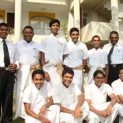 Das Team des Hotels, Sri Lanka