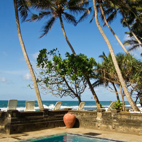 Pool am Meer, Sri Lanka