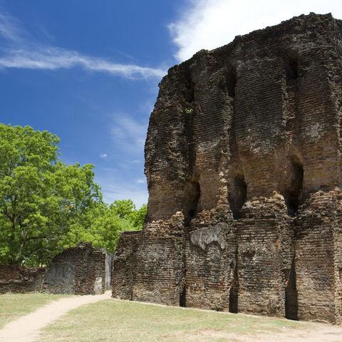 Ruinen des Königspalastes von Polonnaruwa, Sri Lanka