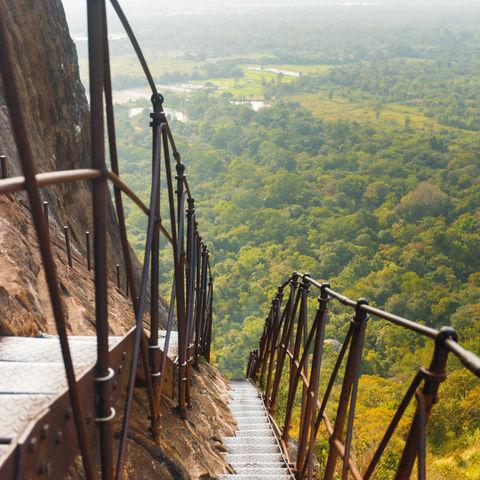 Teppenstufen auf dem Löwenfelsen, Sri Lanka