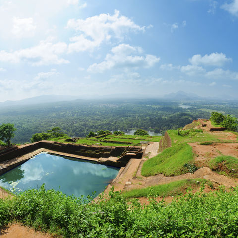 Panorama Ausblick über den Dschungel, Sri Lanka