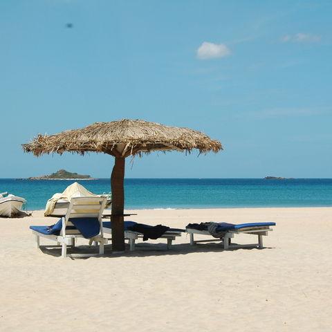 Traumstrand des Pigeon Island Beach Resorts, Sri Lanka