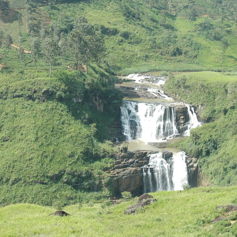 Wasserfall im Hochland, Sri Lanka