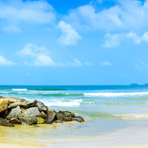 An der Südwestküste gelegen: Bentota Beach, Sri Lanka
