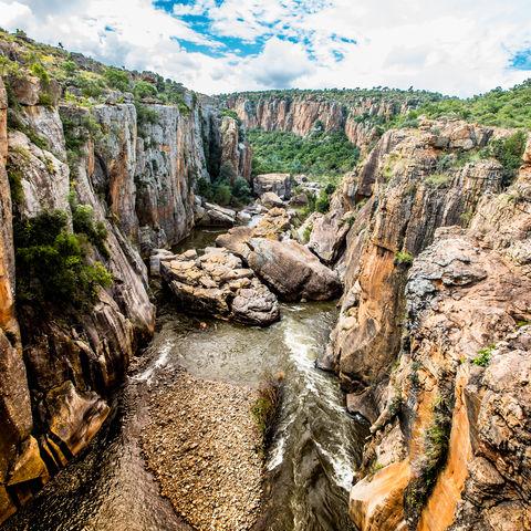 In der Nähe des Blyde River Canyony: Felsformationen von Bourke's Luck Potholes, Südafrika