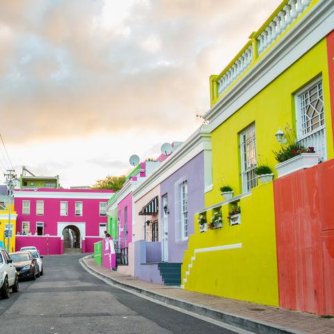 Durch die Straßen von Bo Kaap zu flanieren, ist ein regelrechter Augenschmaus, Kapstadt, Südafrika