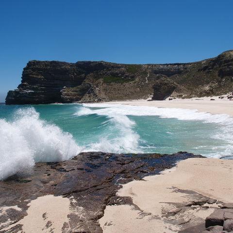 Strand zwischen Kapstadt und dem Kap der guten Hoffnung, Südafrika