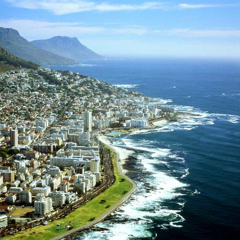 Luftaufnahme von Kapstadt, Südafrika