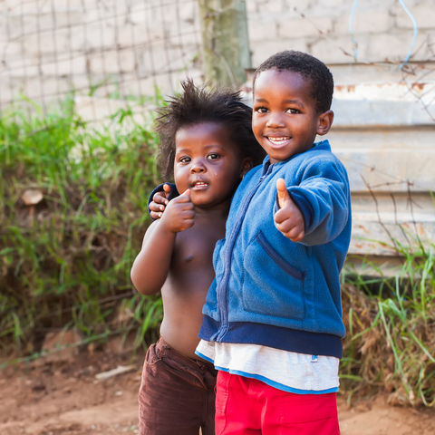 Fröhliche Kinder, Südafrika