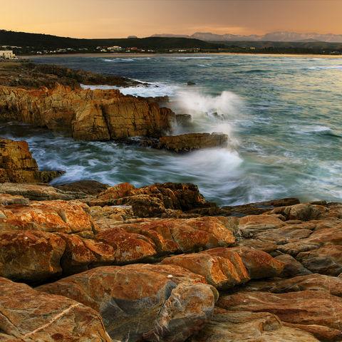 Küste von Plettenberg Bay an der Garden Route, Südafrika