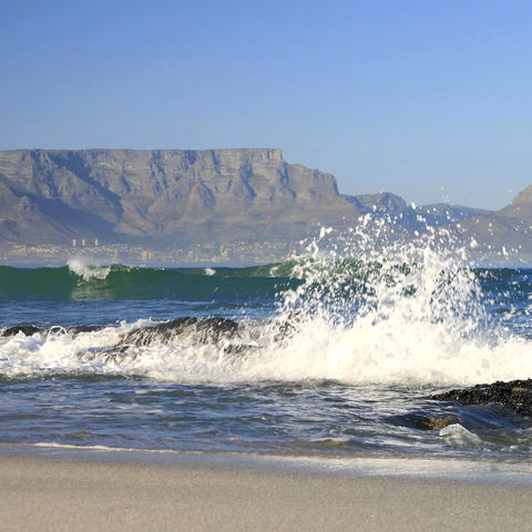 Blick auf den Tafelberg, Südafrika