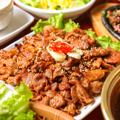 Für Fleischesser: Mariniertes, gegrilltes Bulgogi (Rindfleischstreifen), Südkorea