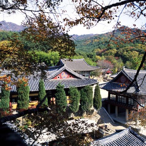Donghwasa Tempelanlage in der Provinz Gyeongsangdo, Südkorea