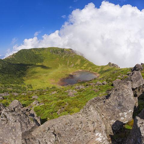 Der höchste Berg Südkoreas: Vulkankrater des Hallasan, Jeju, Südkorea