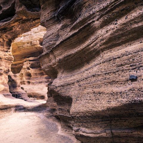 Sandsteingebilde am Yongmeori Strand, Sanbang-ro, Jeju, Südkorea