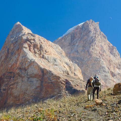 Bergwanderung zwischen Felsnadeln, Tadschikistan
