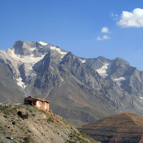 Einsame Hütte in den Bergen, Tadschikistan