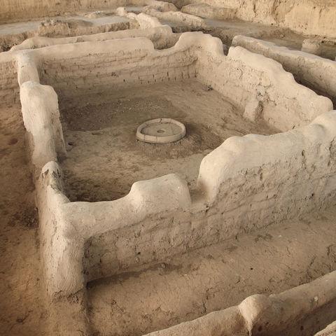 Eine der ältesten Siedlungen Zentralasiens: die historische Stadt Sarazm, Tadschikistan