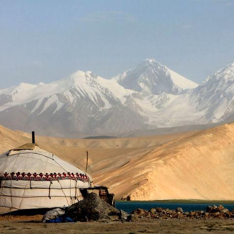Jurte am Karakul See... Gute Nacht!, Tadschikistan