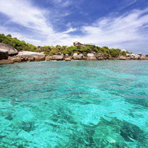Küste der Similan Inseln, Andamanensee, Thailand