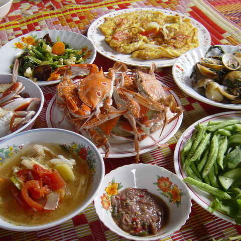 Typisch thailandische Küche beim Kocherlebnis, Thailand