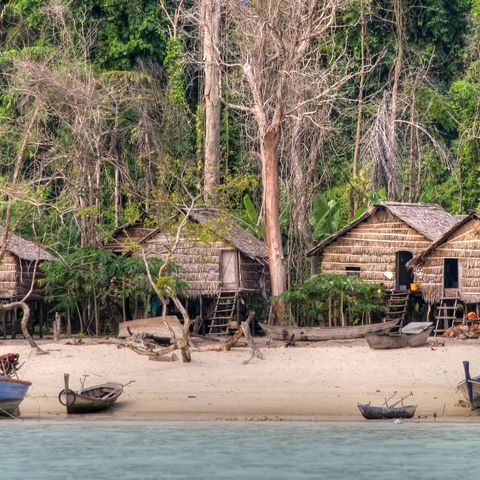 Fischerdorf im Koh-Surin-Nationalpark, Thailand