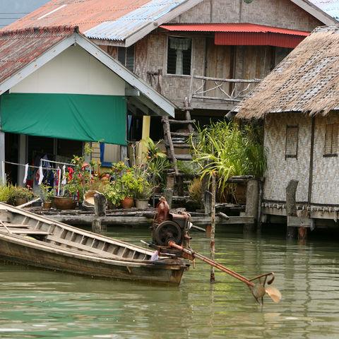 Schwimmende Fischerhäuser, Thailand