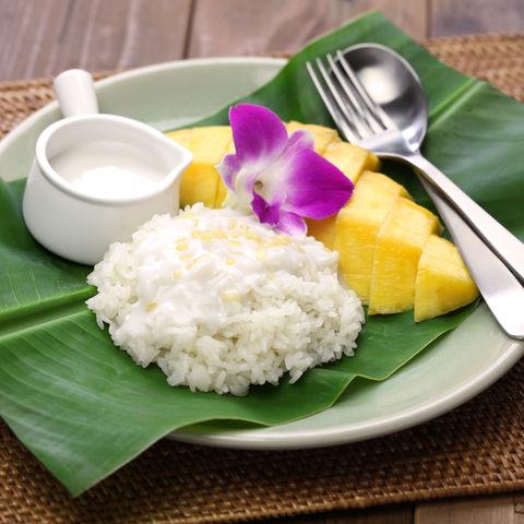 Thailands Lieblingsdessert: Mango Sticky Reis, Thailand