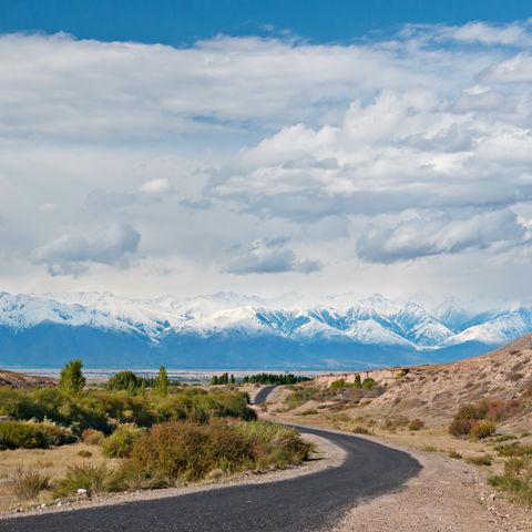 Straße in die Berge, Tibet