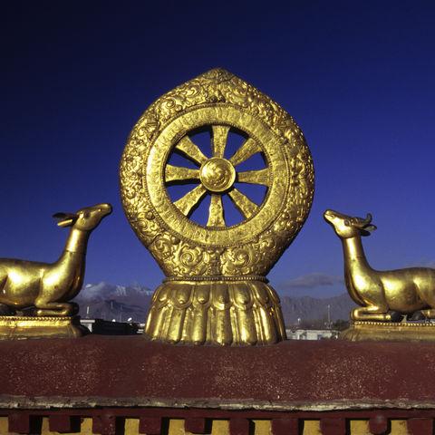 Rad des Dharma im Jokhang Kloster, Tibet