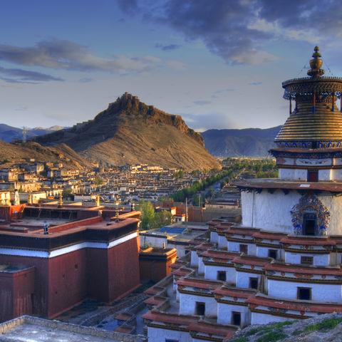 Ein tibetisches Kloster, Tibet