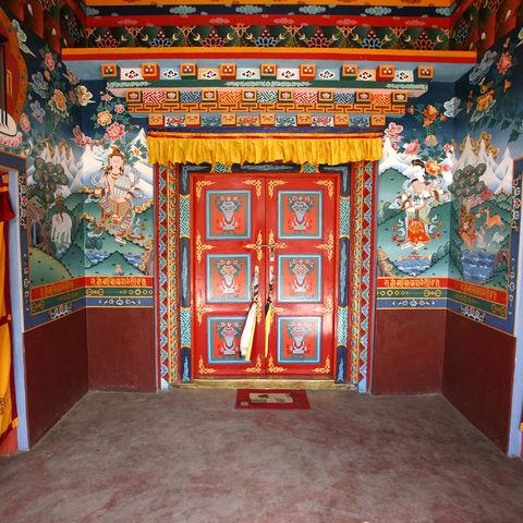 Innenleben eines Klosters, Tibet
