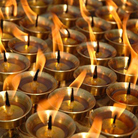 Yak-Butter-Kerzen in einem Kloster in Lhasa, Tibet