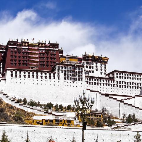 Blick auf den Potala-Palast, Tibet