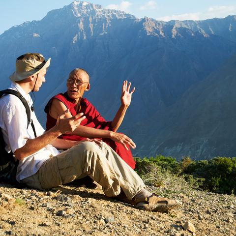 Begegnung mit einem Mönch, Tibet