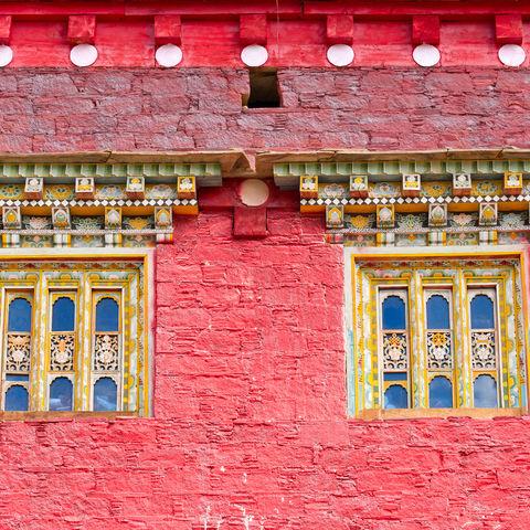 Fenster eines tibetischen Tempels, Tibet