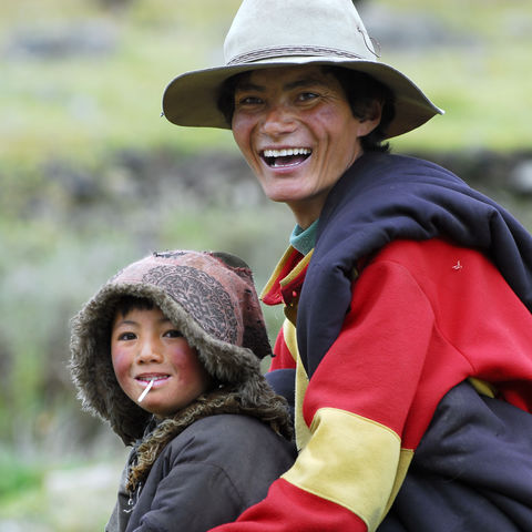 Tibetischer Vater und Sohn, Tibet