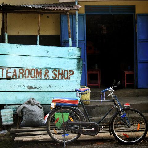 Idyllische Straße, Uganda