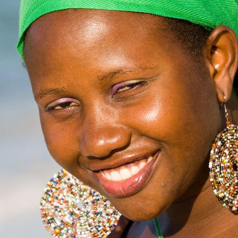 Ein herzerwärmendes Lächeln einer Uganderin, Uganda