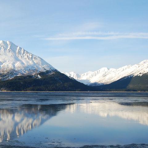 Chugach Mountains entlang der Seward-Landstraße, Alaska