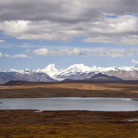 Wilde Berglandschaft entlang des Denali-Highway, Alaska