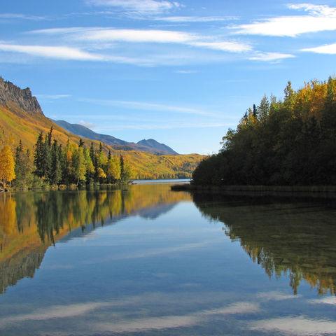 Reflektionen in einem See, Alaska