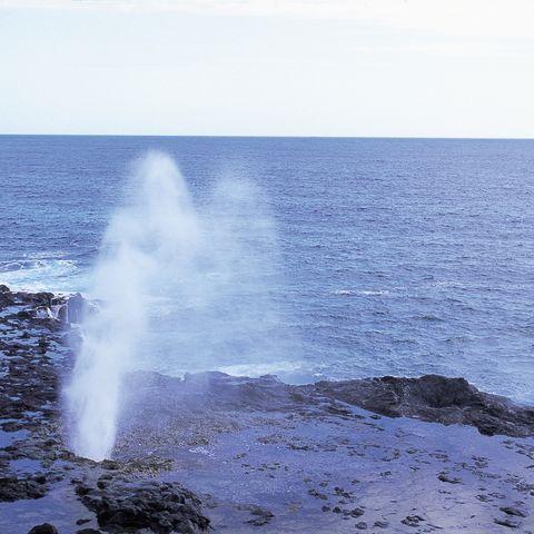 Spouting Horn auf Kauai, Hawaii