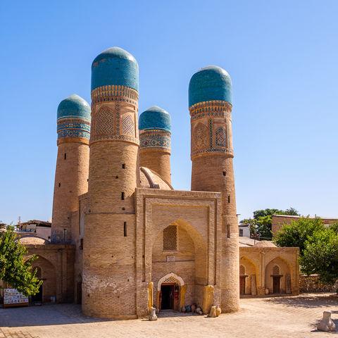 Die vier eleganten Türme des Chor Minor, Buchara, Usbekistan