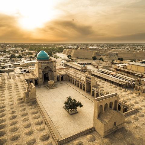 Phänomenaler Panoramablick über Buchara, Usbekistan
