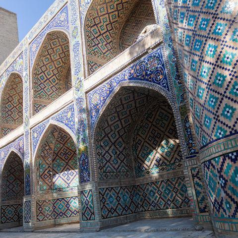 Eingang der Ulughbek-Medrese in Buchara, Usbekistan