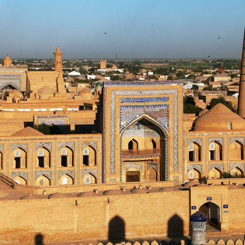 Ansicht auf Chiwa, Usbekistan
